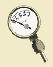 0-80 3/4 dia Brass pressure gauge.